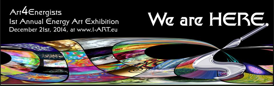 "Energy Art Exhibition ""We are here!"" Poster 2014"