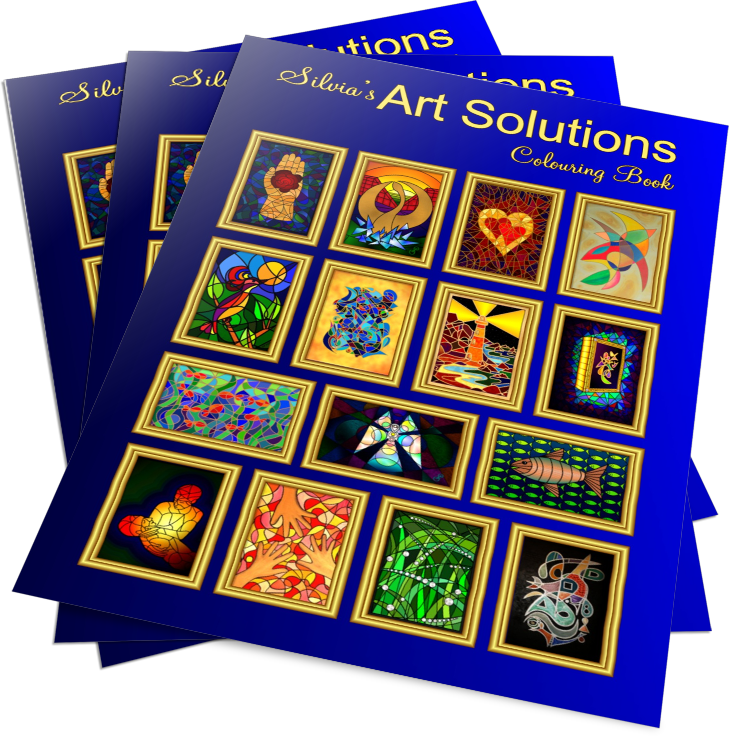 Order Silvia's Art Solutions Colouring In Book!