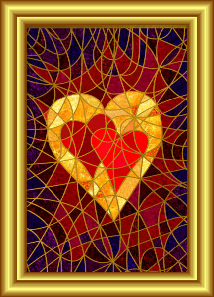 Make Love Your Goal Symbol Hybrid Painting by Silvia Hartmann