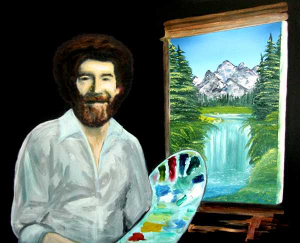 Bob Ross portrait by starfields