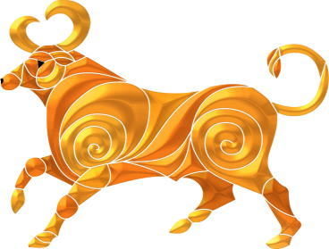 Taurus golden bull transparent png by StarFields