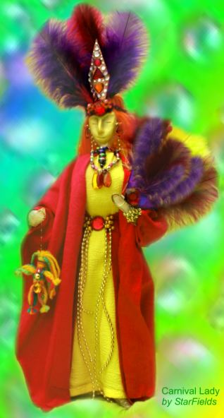 Art Doll Spirit Doll The Carnival Queen by StarFields