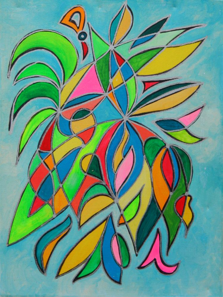 Flowering/New Unfoldments Symbol Painting by Silvia Hartmann