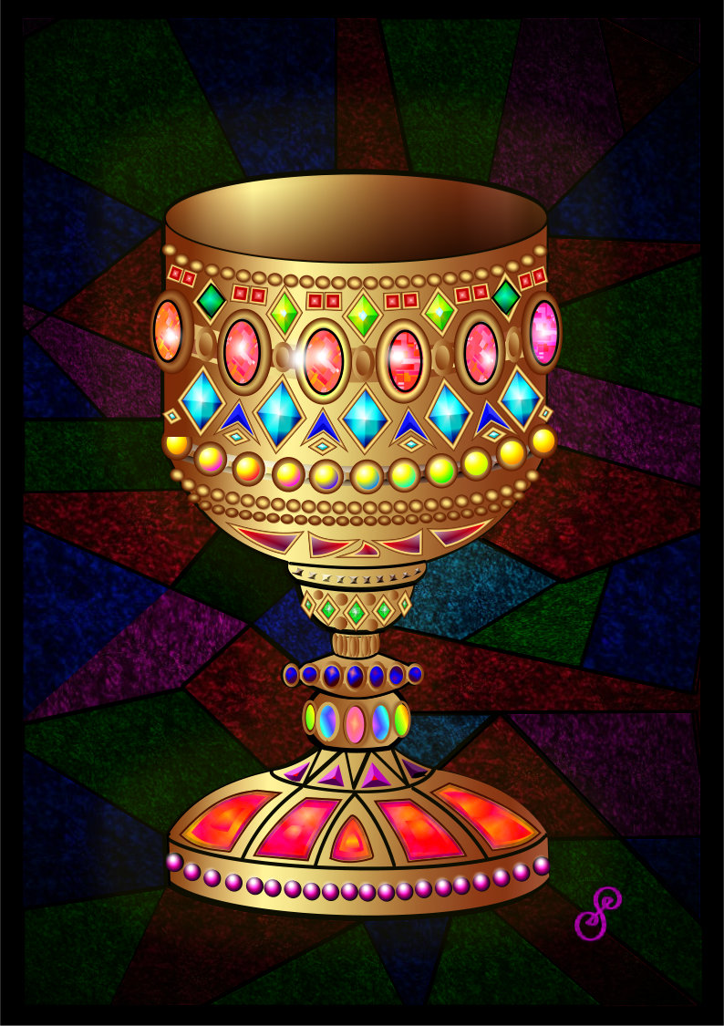 The Chalice - Chalice image painting by Silvia Hartmann