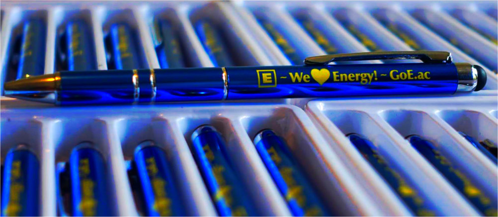 Pen with the E logo