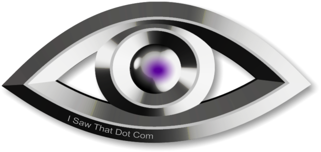 Metal eye logo for http://i-saw-that.com