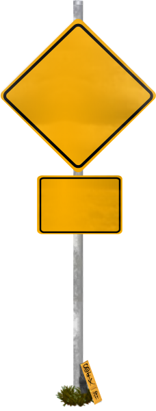 Blank Funny Road Sign 1 Transparent PNG