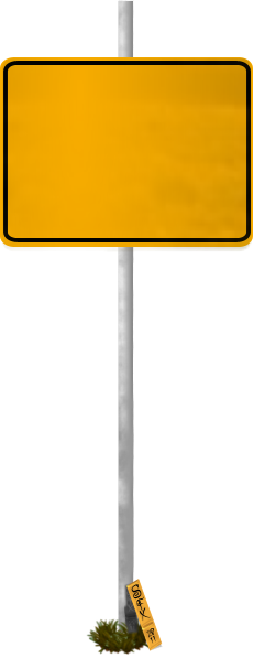 Blank Funny Road Sign 2 Transparent PNG