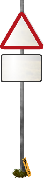 Blank Funny Road Sign 5 Transparent PNG