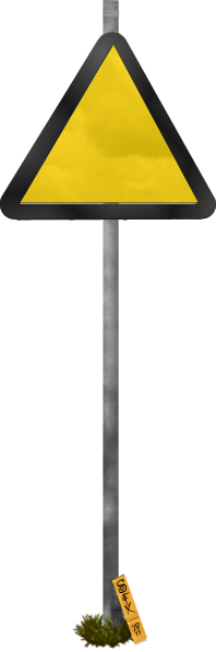 Blank Funny Road Sign 7 Transparent PNG