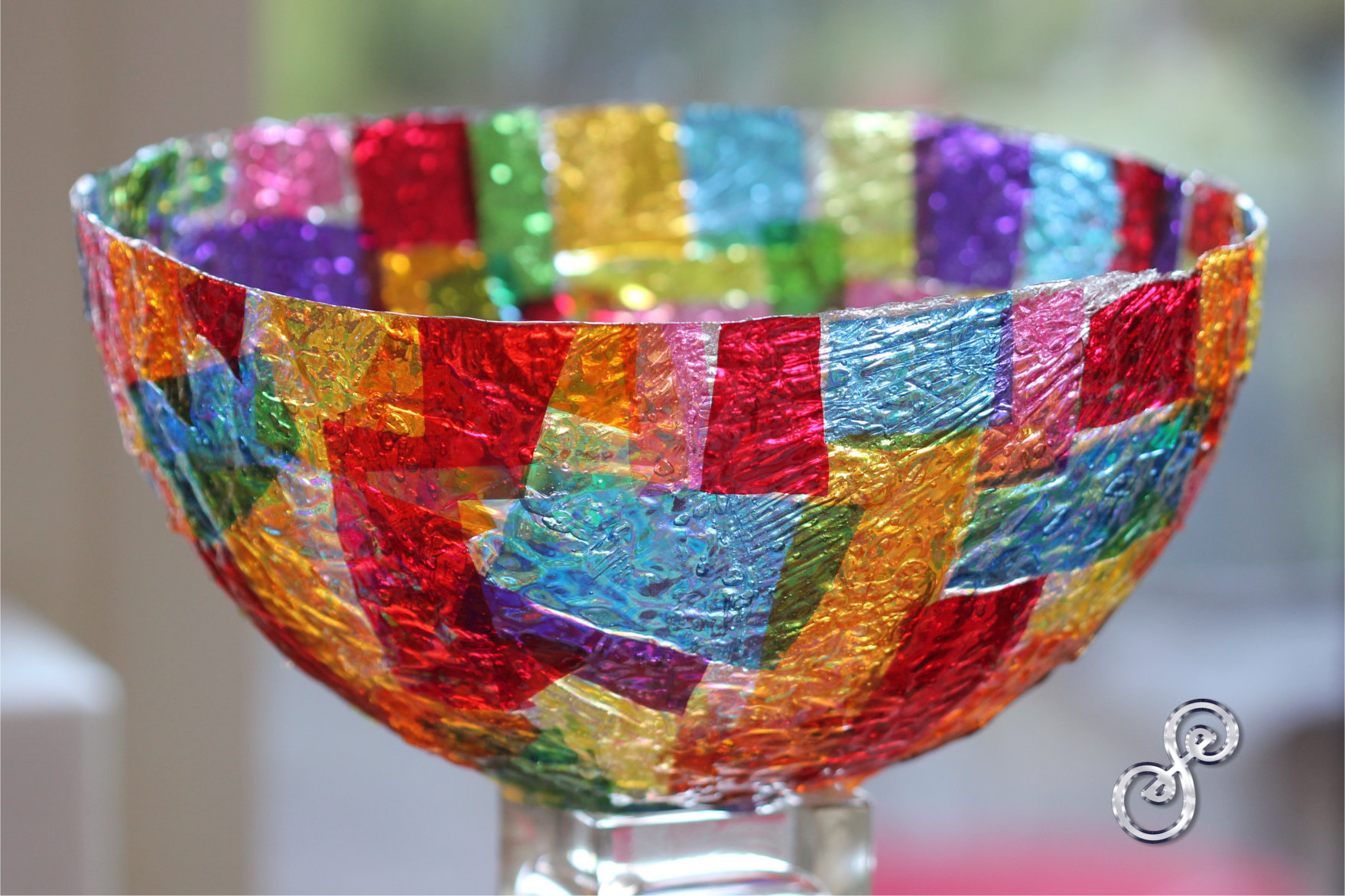 Colourful happy bowl