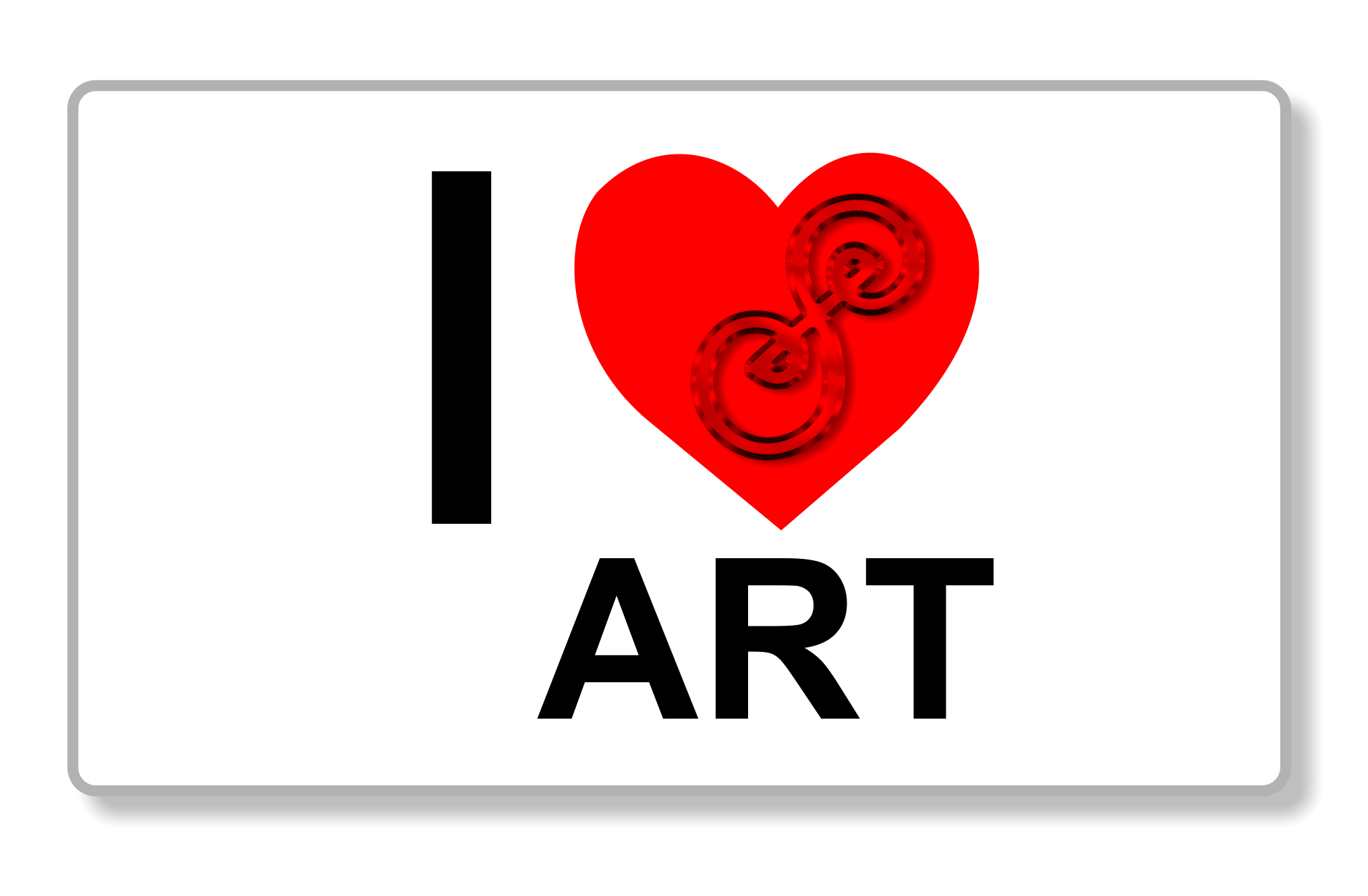 I love art! I heart art picture