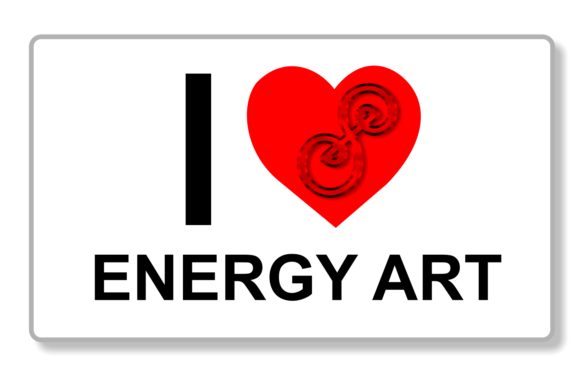 I heart energy art