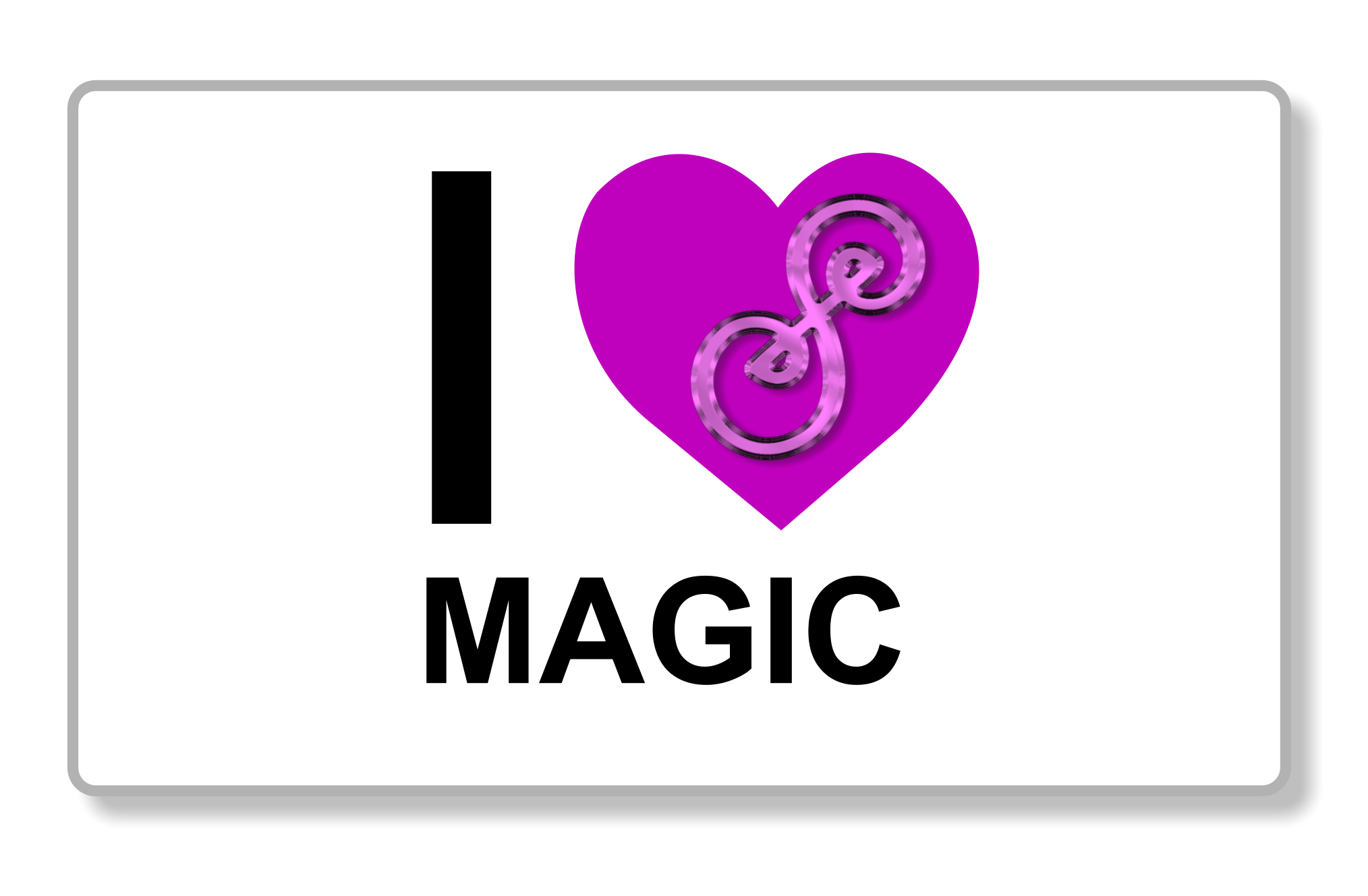 I heart magic</li><li>purple heart