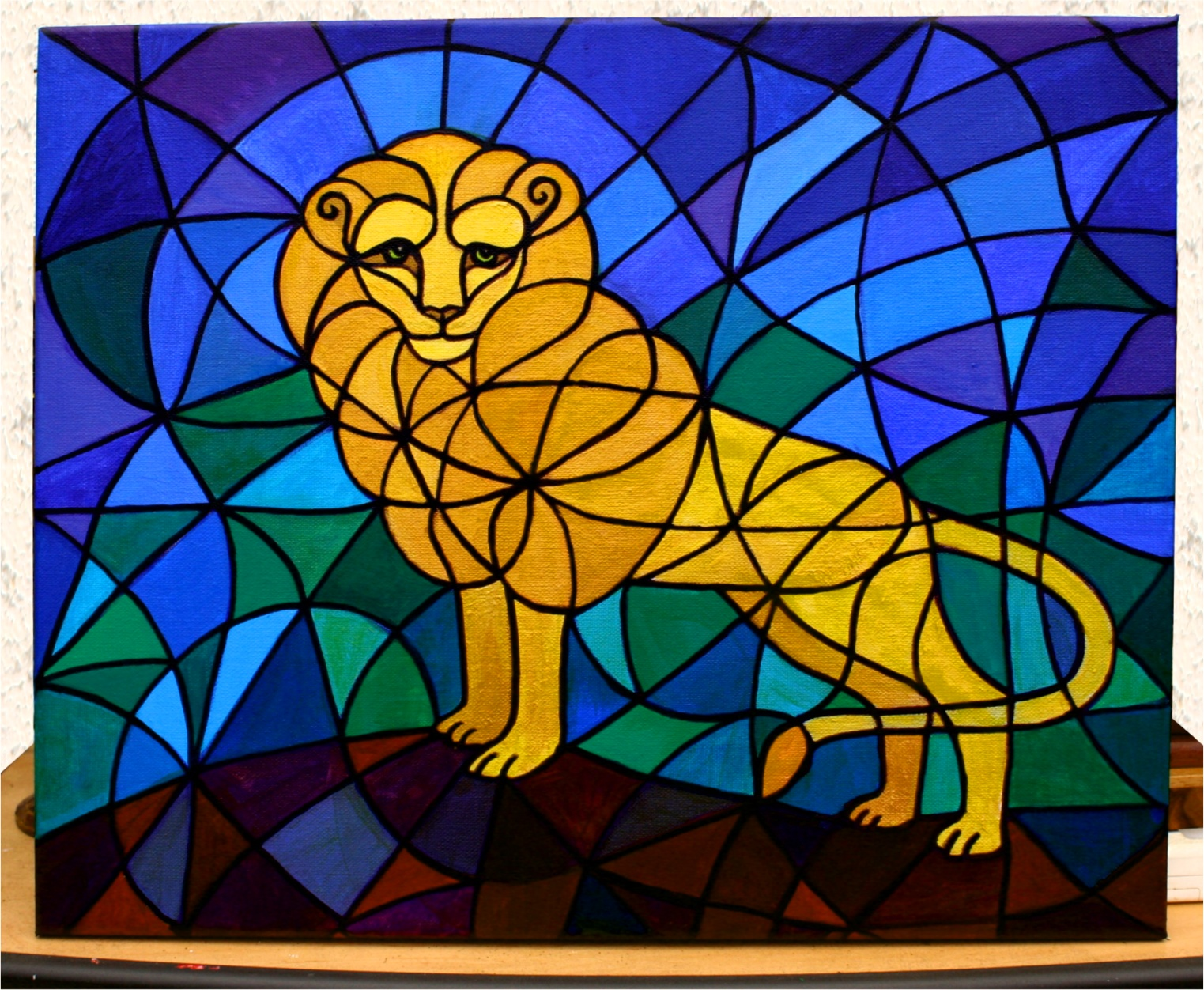 Leo Painting - The Original Leo Symbol Hybrid Painting by SFX