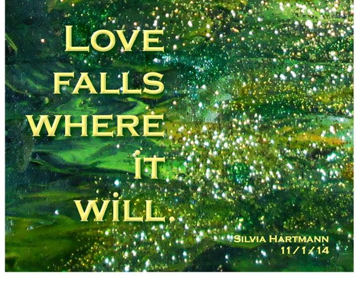 Love falls where it will - Facebook Plaque from Detail