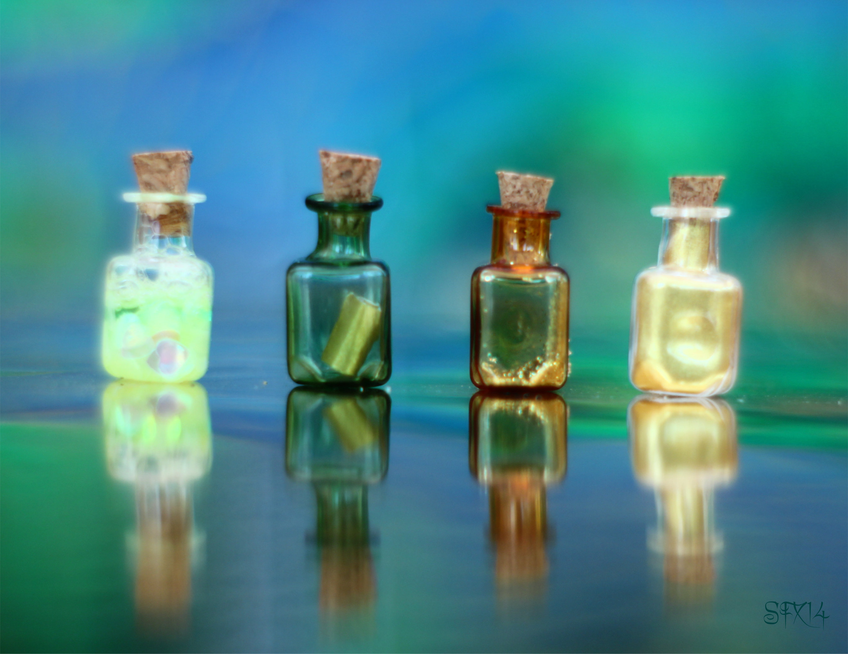 4 Magic Bottles for Magic Potions