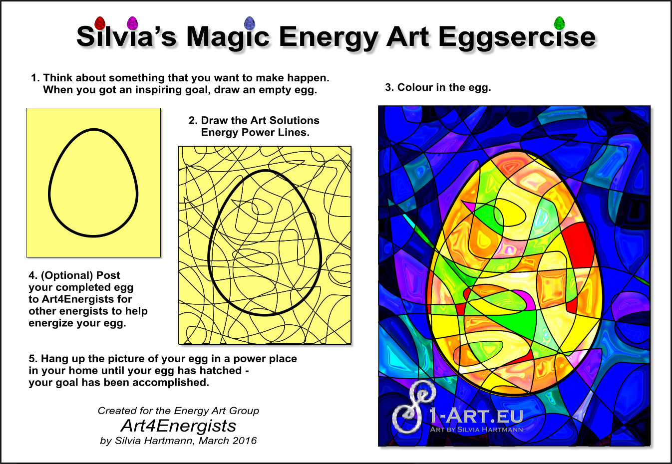 Magic Egg Art Exercise pictures and instructions