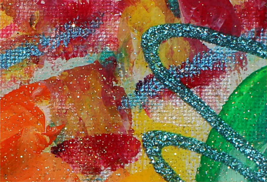 Colourful energy painting - detail 2