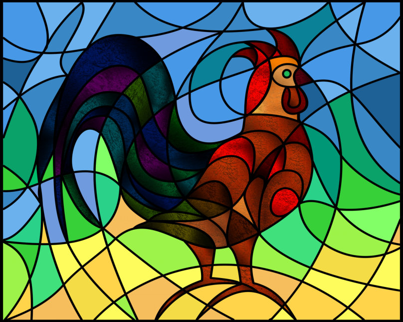 Rooster Vector rendition by Silvia Hartmann