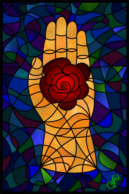 Rose Hand Vector Version by Silvia Hartmann 2015