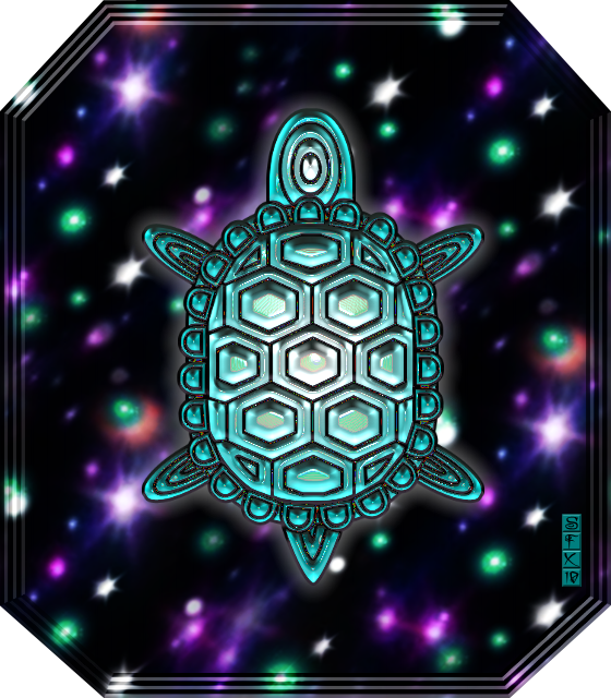 Sacred Turtle or Tortoise Image by SFX
