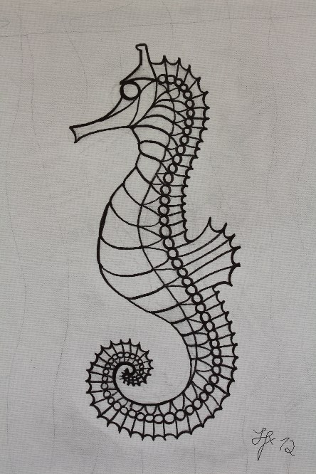 Seahorse original outlines Silvia Hartmann March 2012