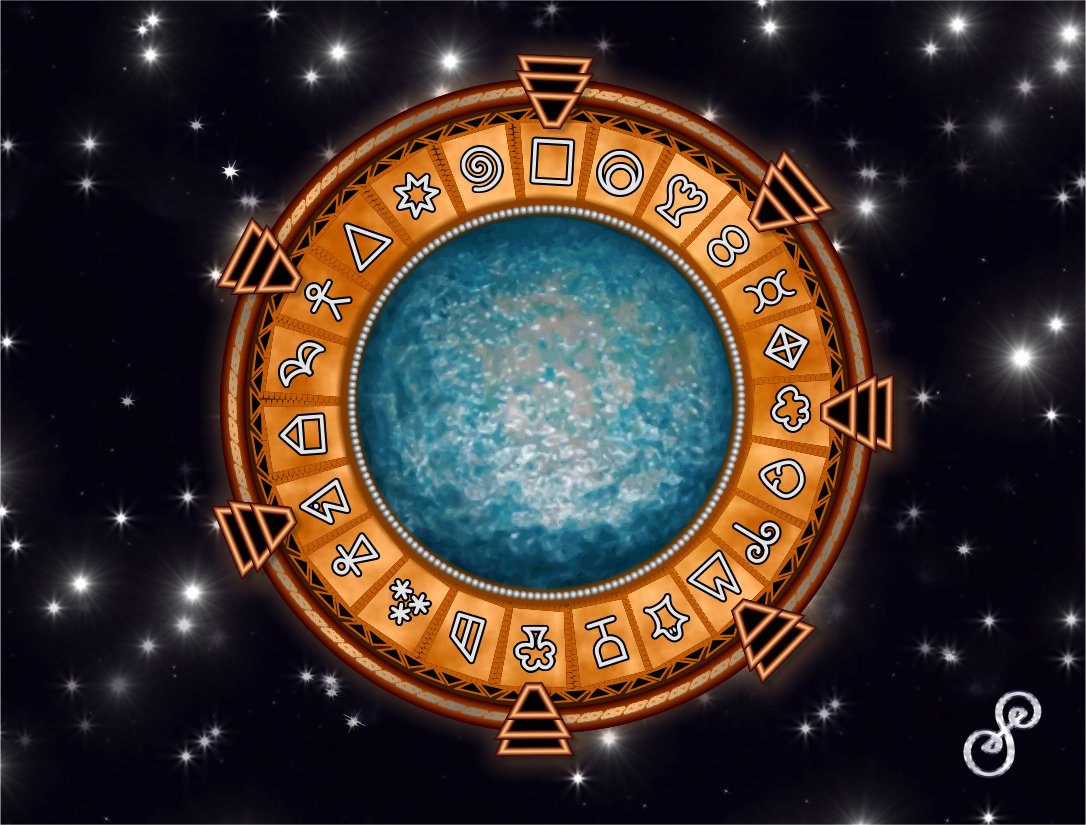StarGate vector on a space background