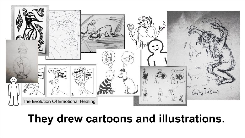They did lots of drawings