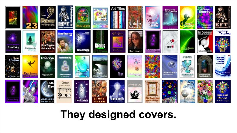 They made lots of book covers