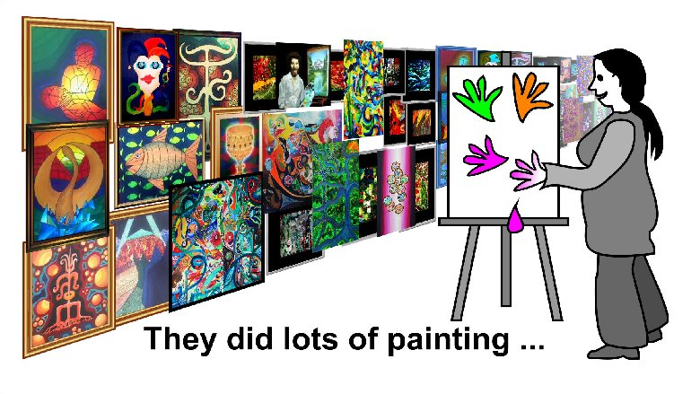 They made lots of paintings