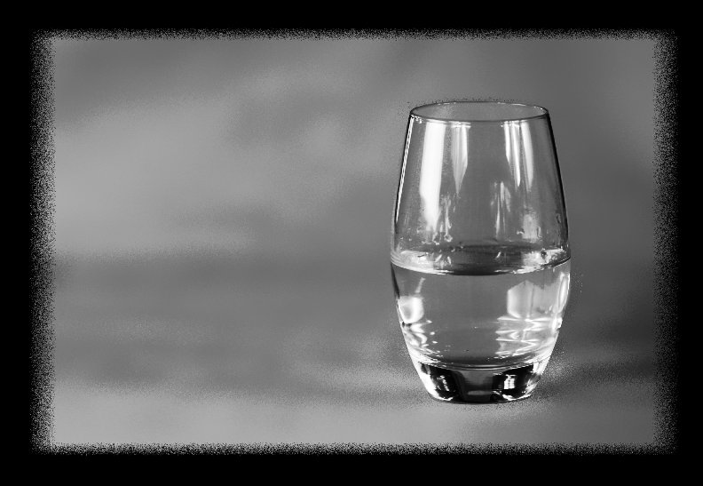 Black & White picture of a glass of water