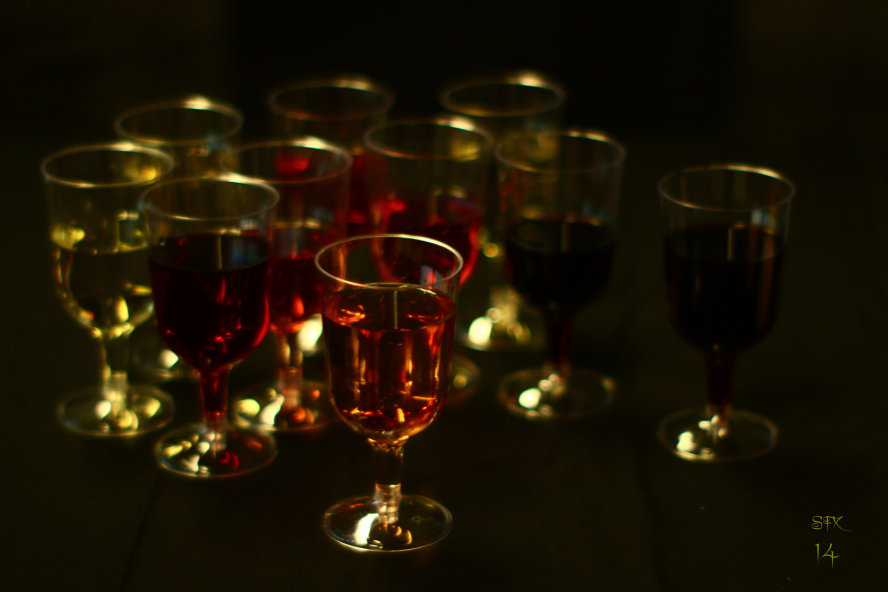 Colours Of Wine - Red Wine, Rose Wine, White Wine photograph by Silvia Hartmann