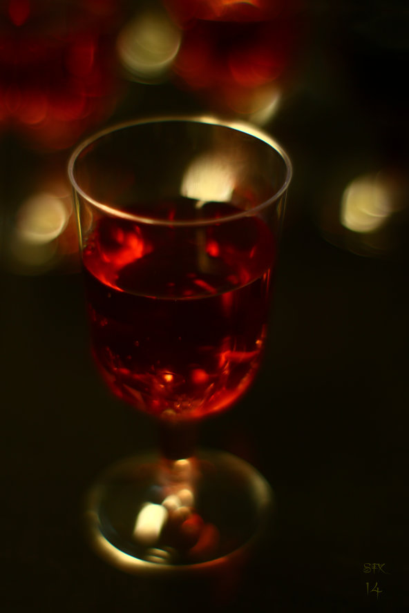 Rose wine in a wine glass photograph by Silvia Hartmann