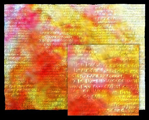 Word art - ancient paper with words you can hardly read